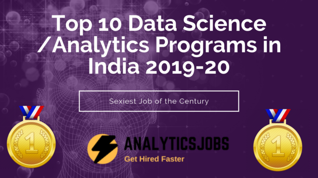 Best Data Science institutes in India - Ranking 2019