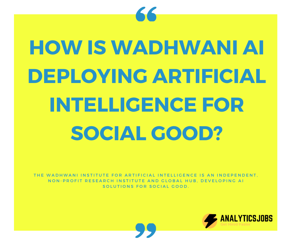Wadhwani AI for social good