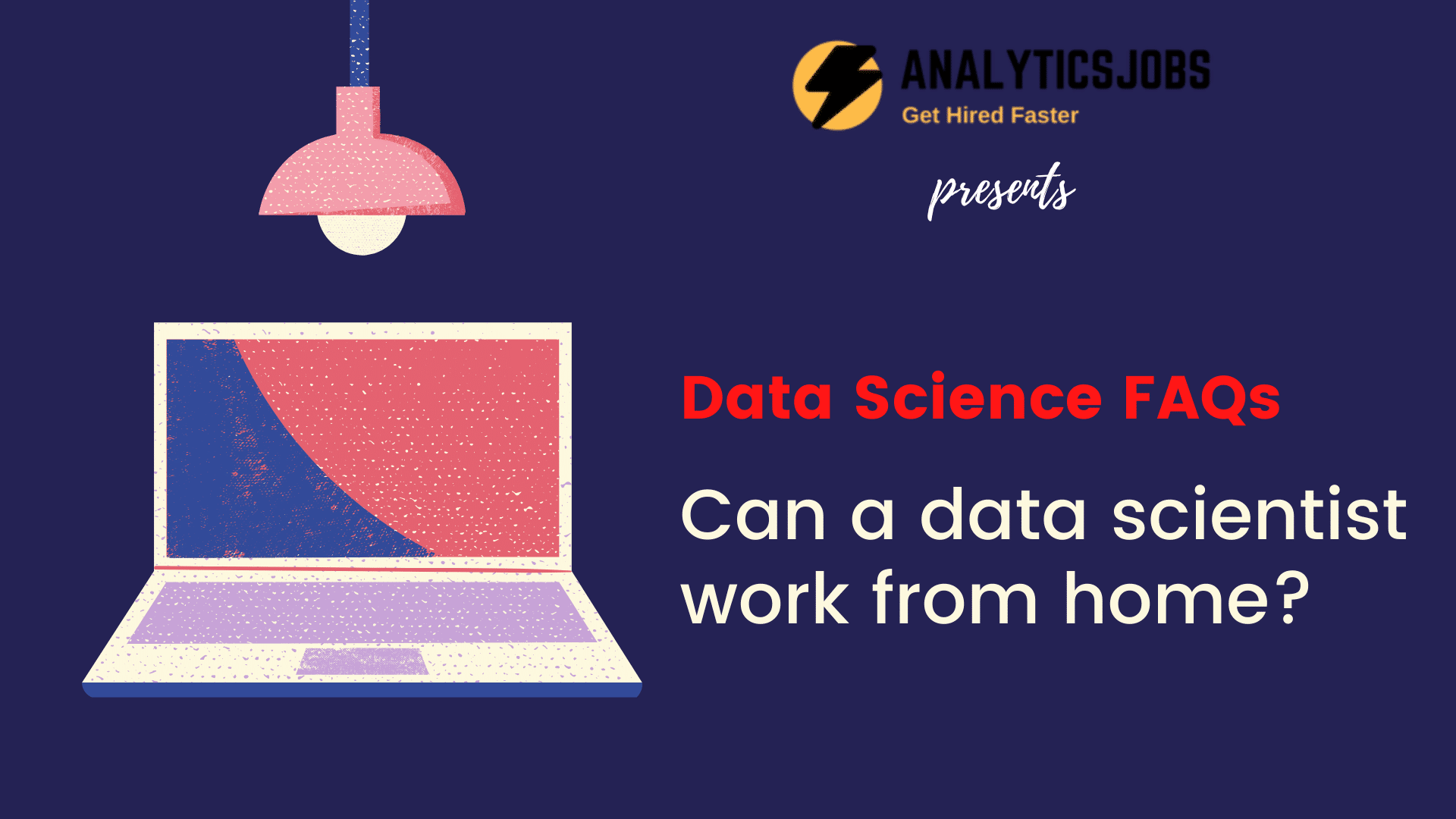 Can a data scientist work from home?